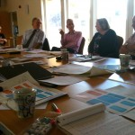 Partners discussing the Tyne Catchment Partnership structure proposals
